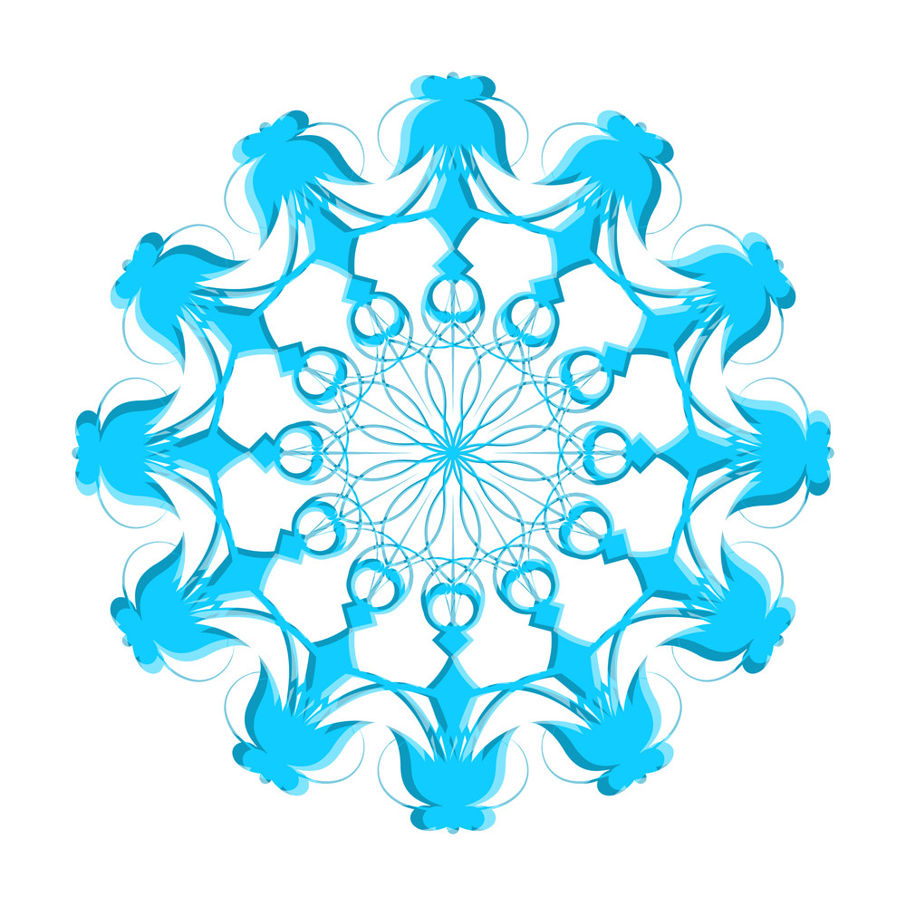 Decorative Snowflake Design Element