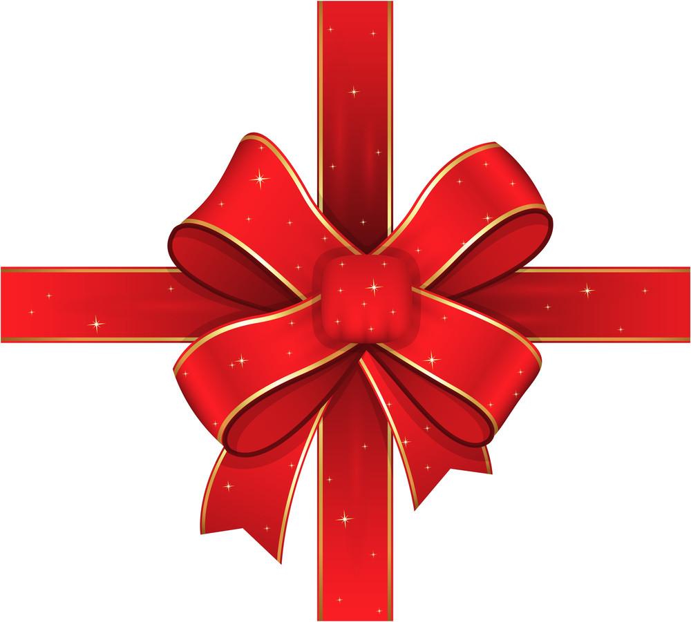 Decorative Sparkles Christmas Ribbon Bow