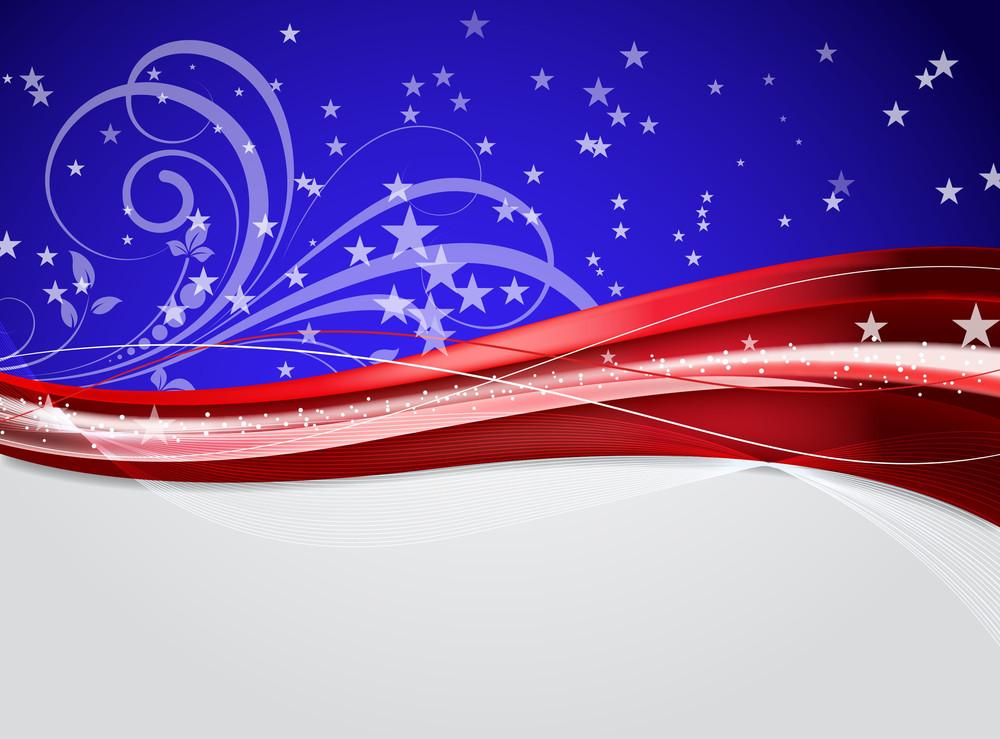 Decorative Sparkles Wavy Flourish Background