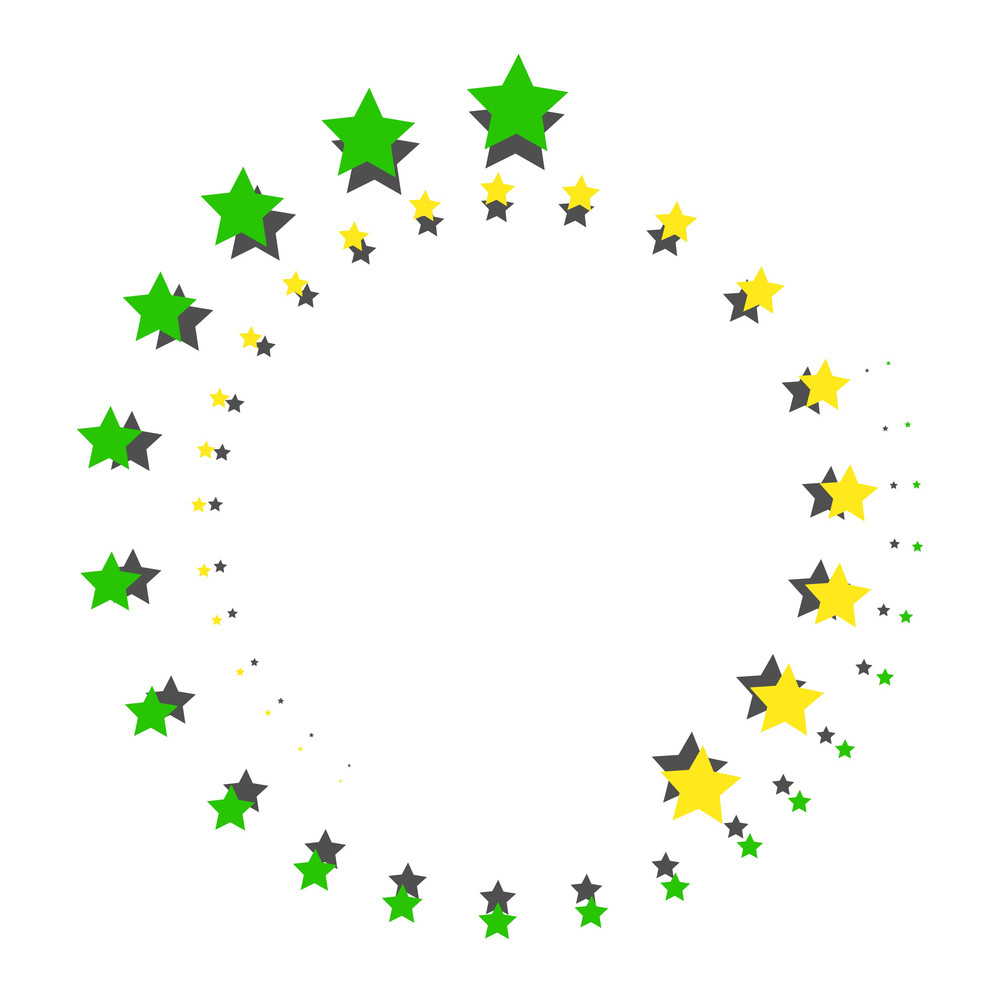 Decorative Stars Circle Design
