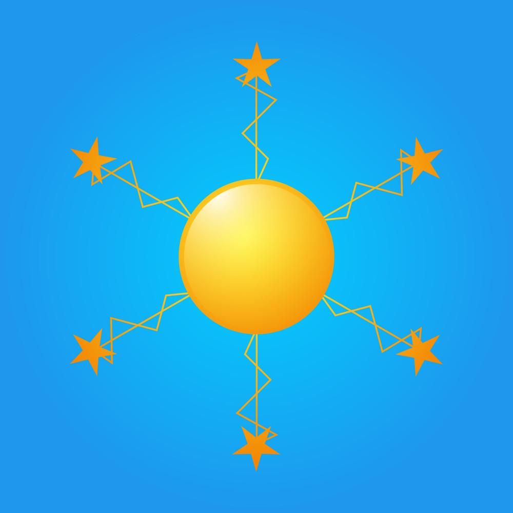 Decorative Stars Sun Icon