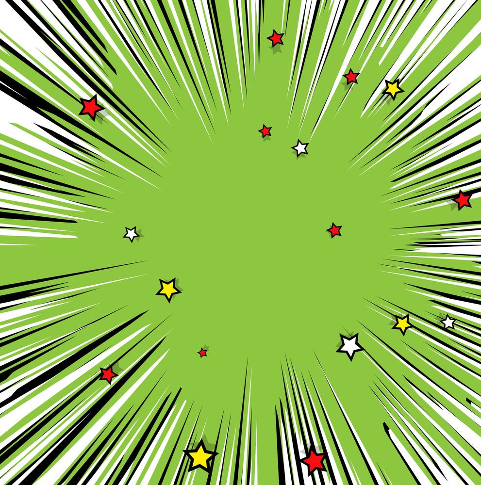 Decorative Stars Sunburst Background