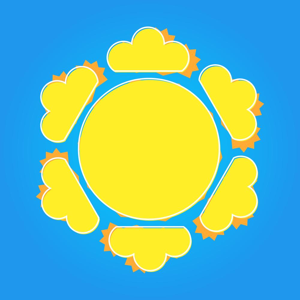 Decorative Sun Design Banner