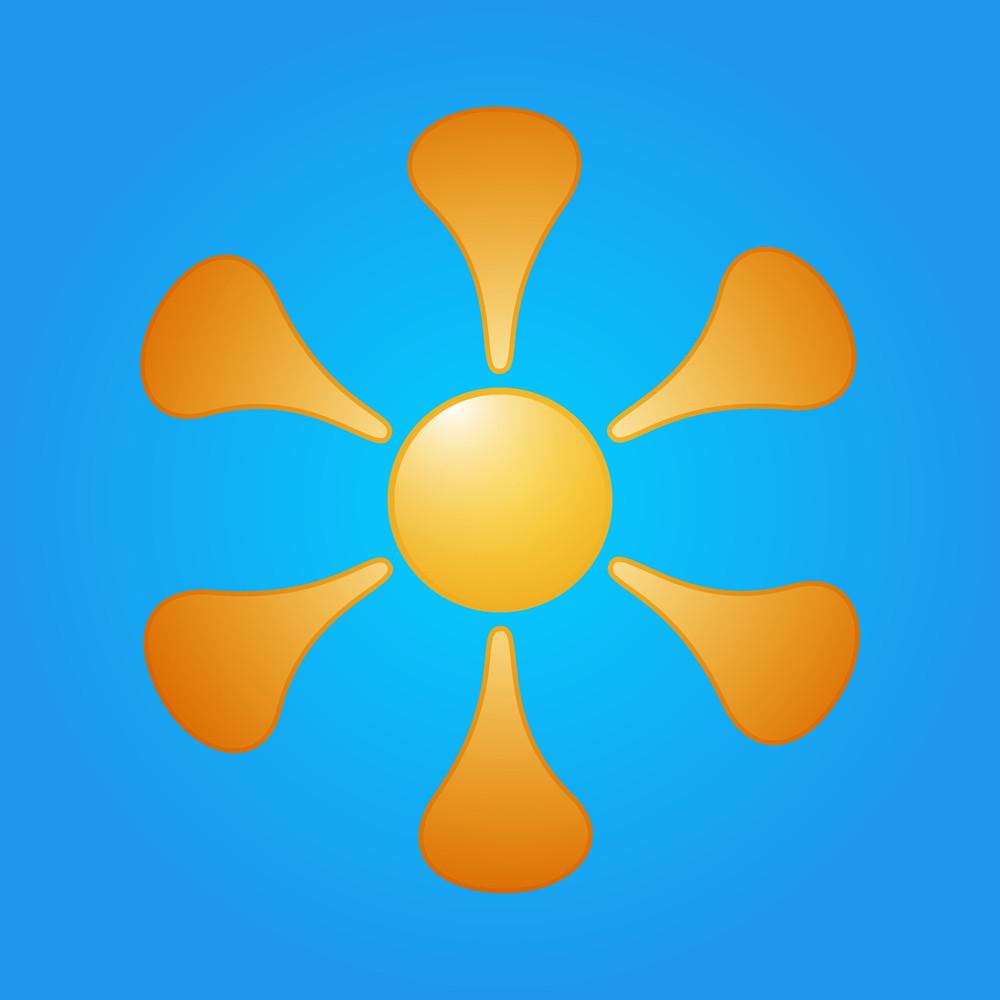 Decorative Sun Design
