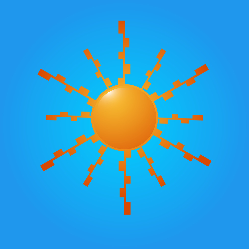 Decorative Sun Icon