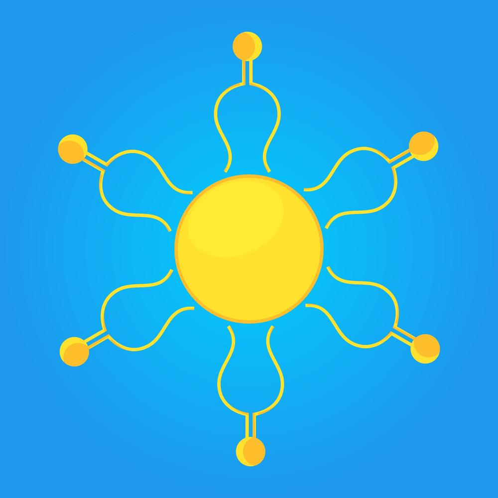 Decorative Sun Vector Design