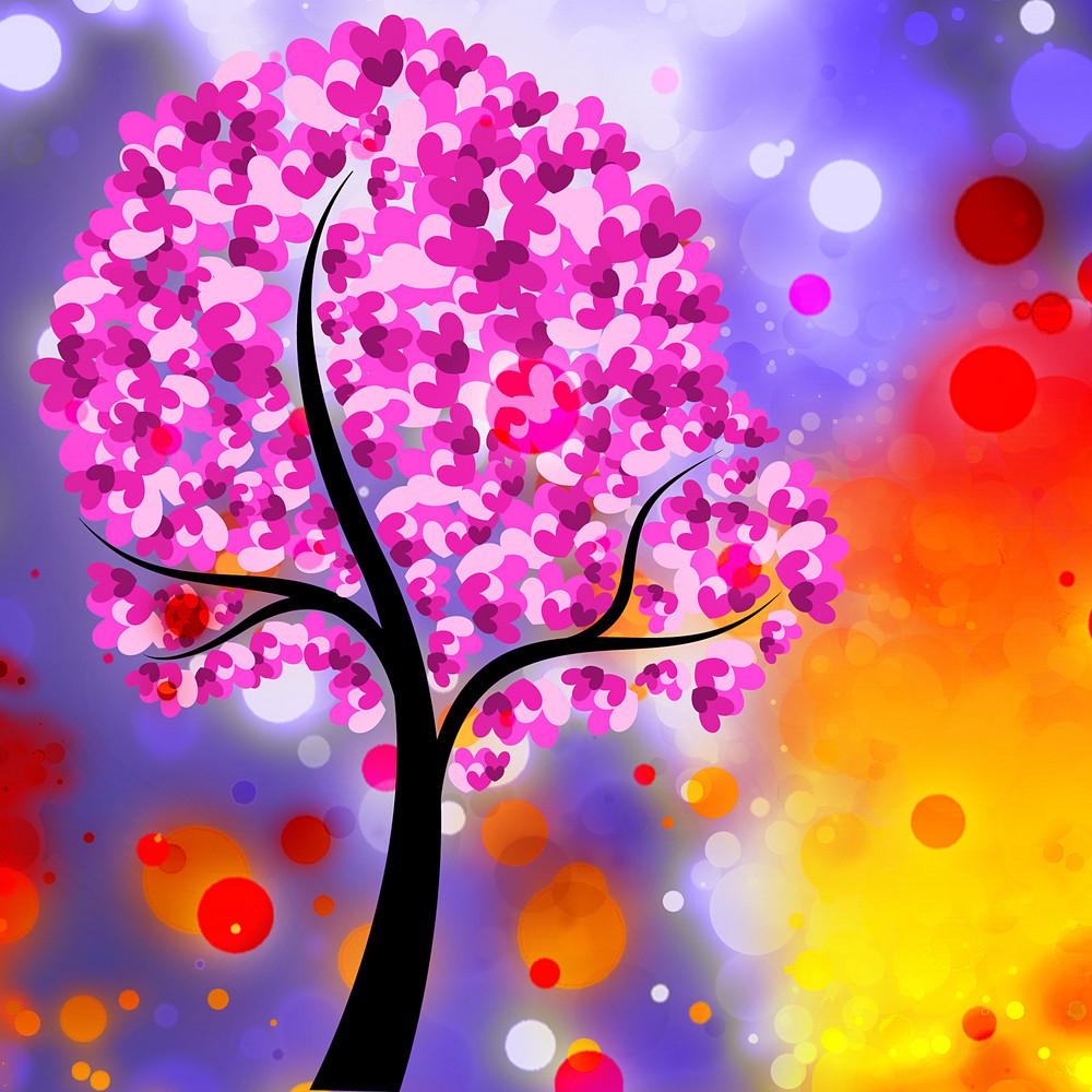Decorative Tree Valentine Background