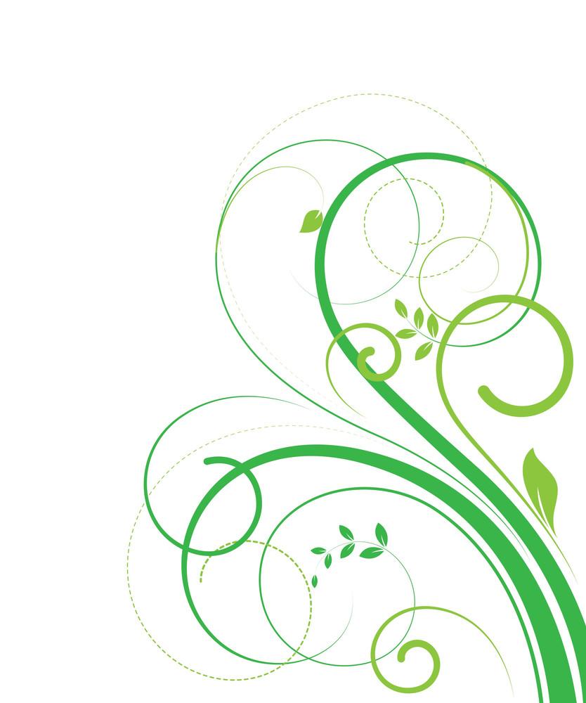 Decorativer Nature Floral Elements