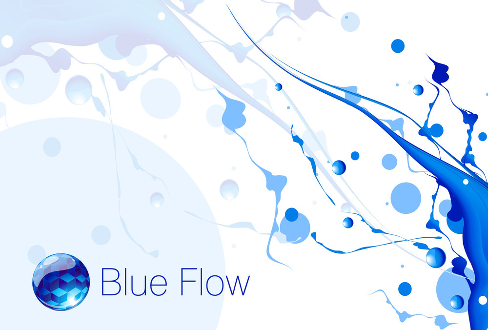 Deep Blue Flow. Vector.