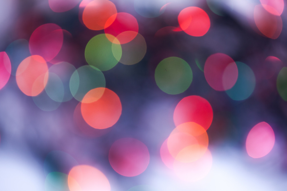 Defocused christmas light background