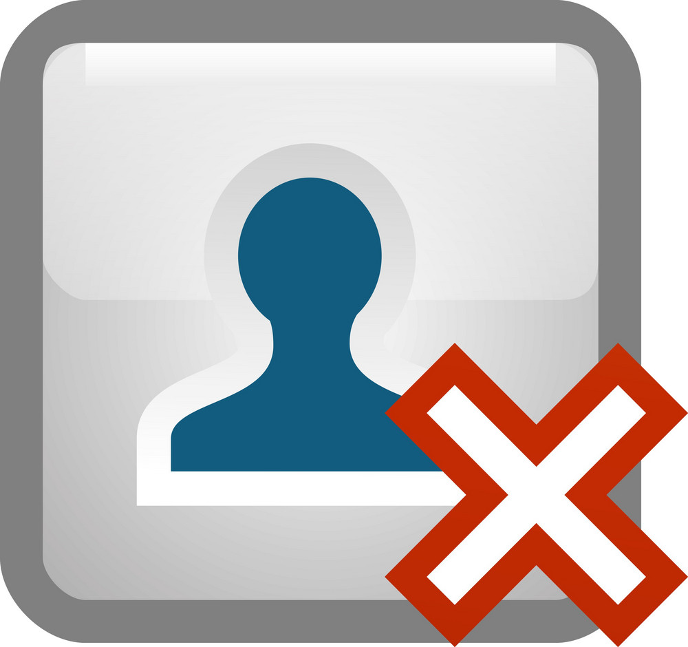 Delete Person Tiny App Icon