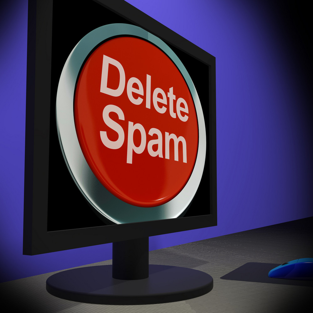 Delete Spam On Monitor Shows Unwanted Email