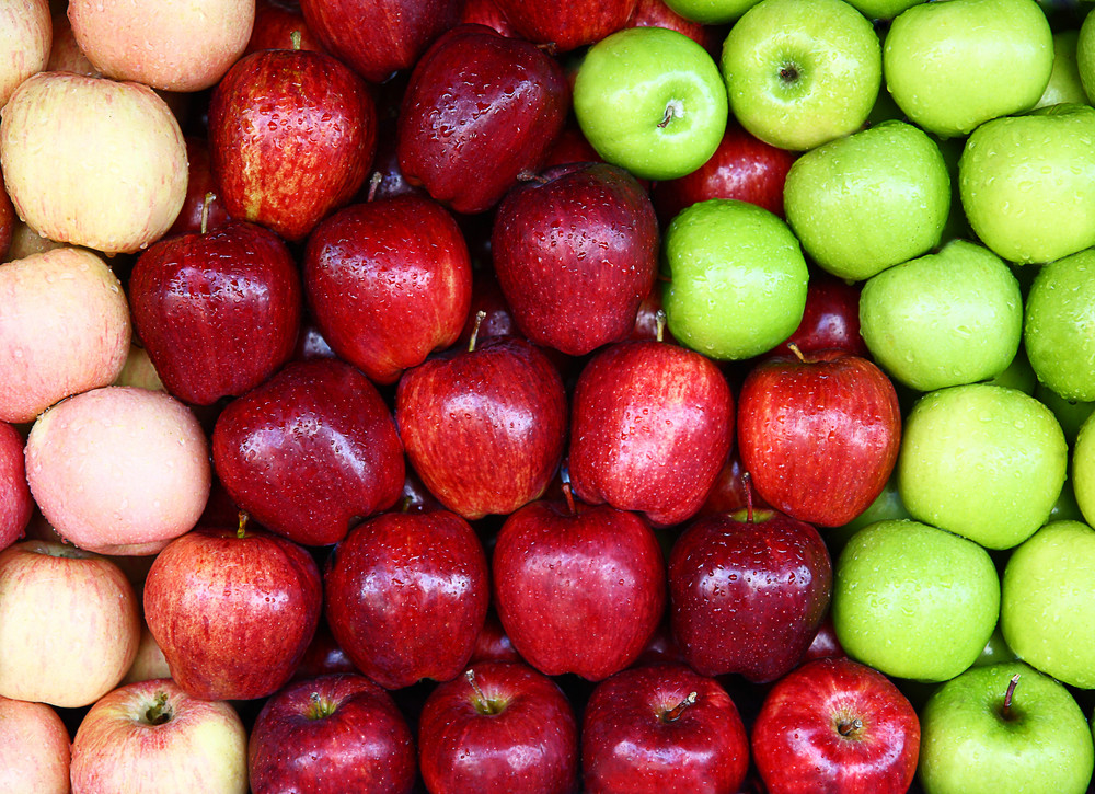 Delicious Assortment Of Red Green Apples