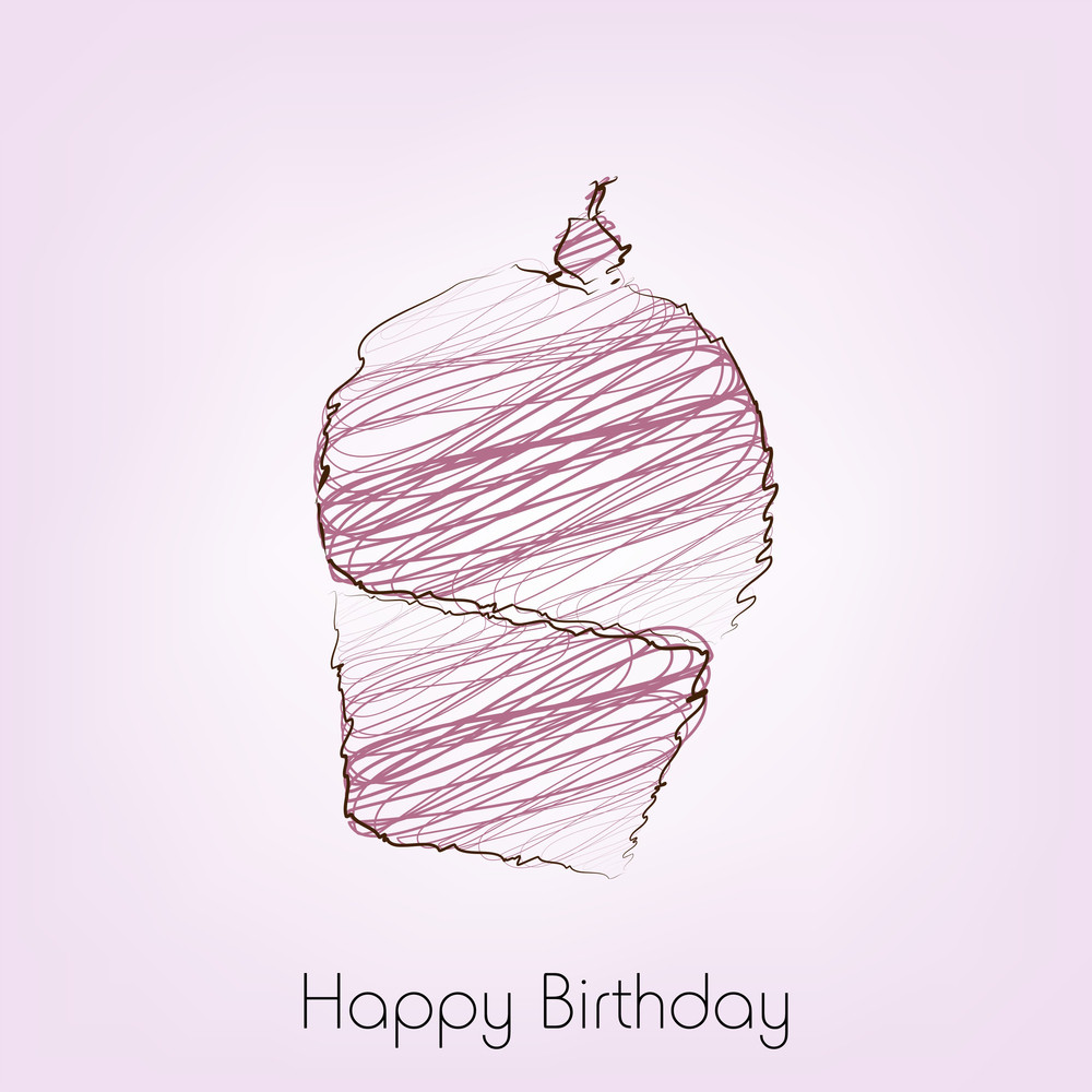 Delicious Birthday Cake On Pink Background