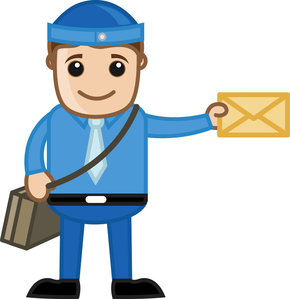 Delivering Mail - Cartton Vector