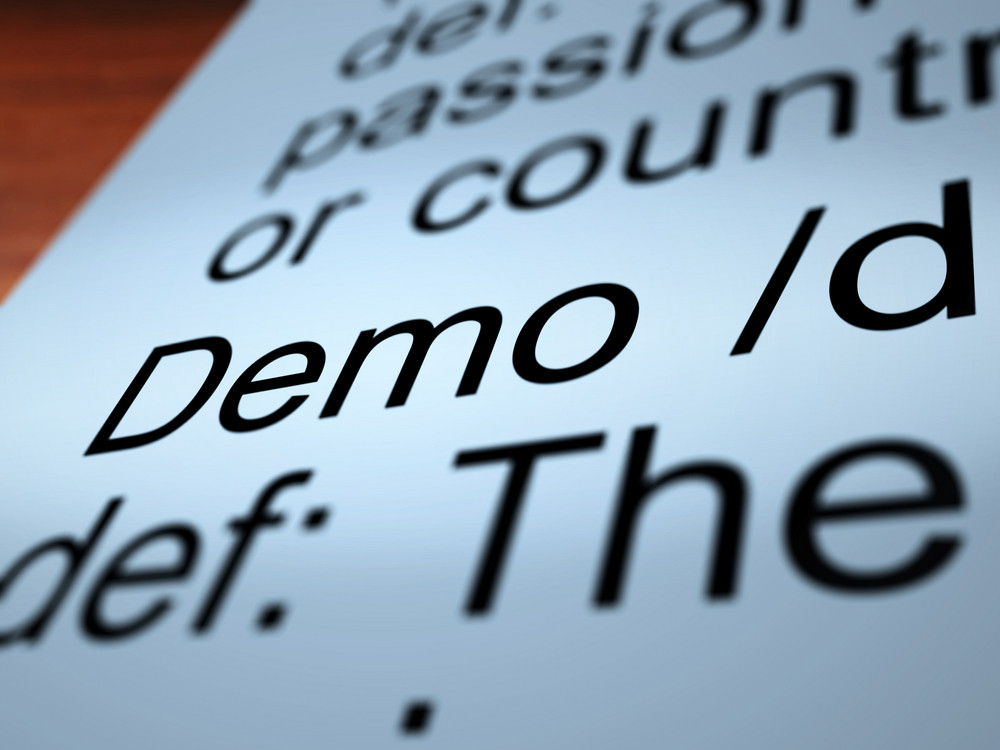 Demo Definition Closeup Showing Demonstration Of Product