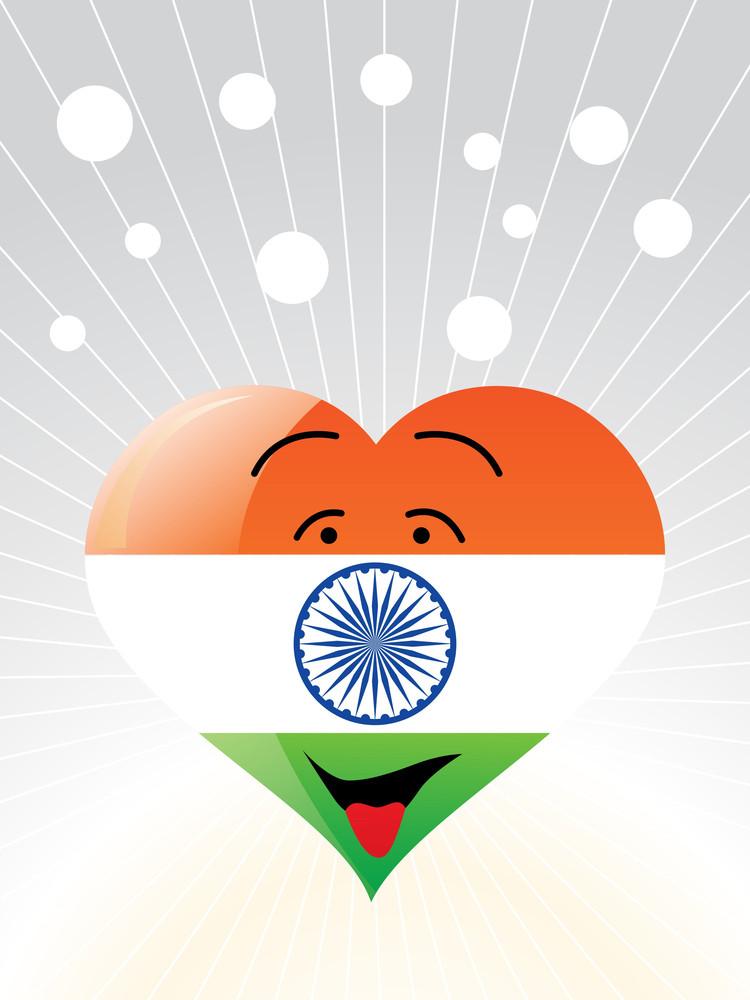 Democratic Indian Heart Vector Wallpaper