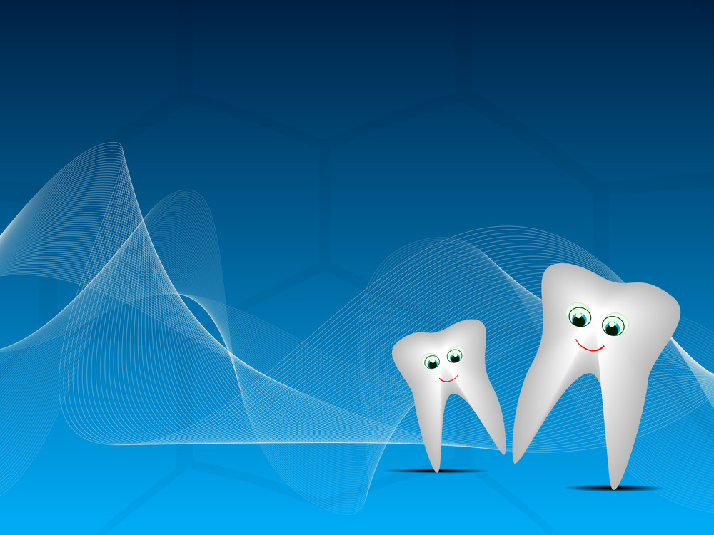 Dental Background With  Happy Teeth