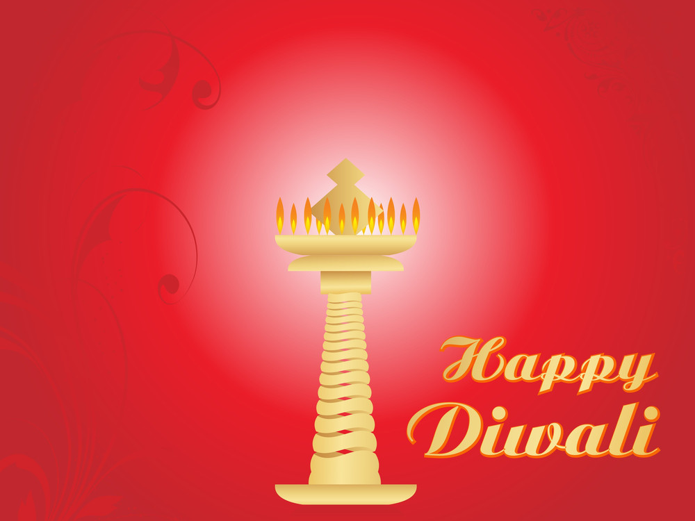 Depawali Background With Candle