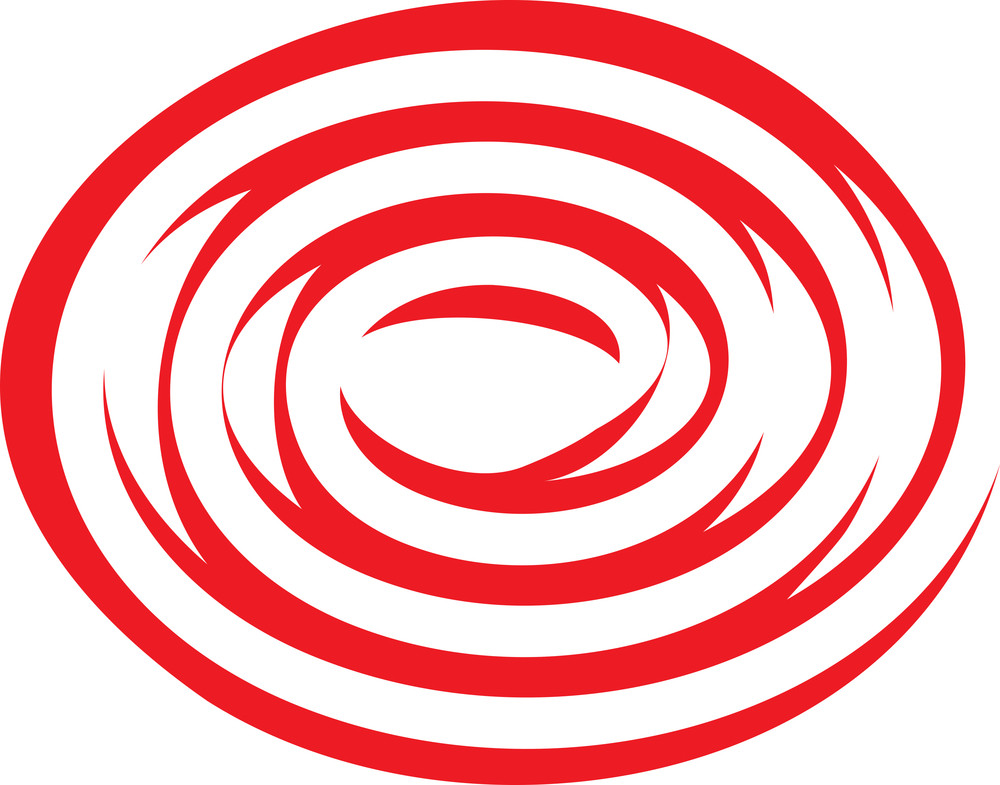 Design Element Of Red Spiral.