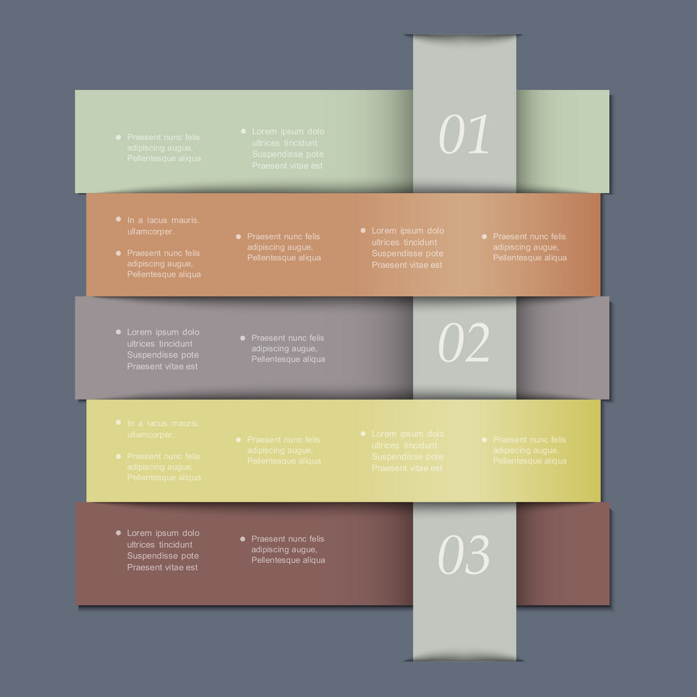 Design Template In Retro Colors For Infographics