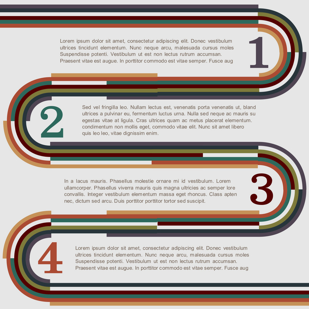 Design Template With Retro Lines