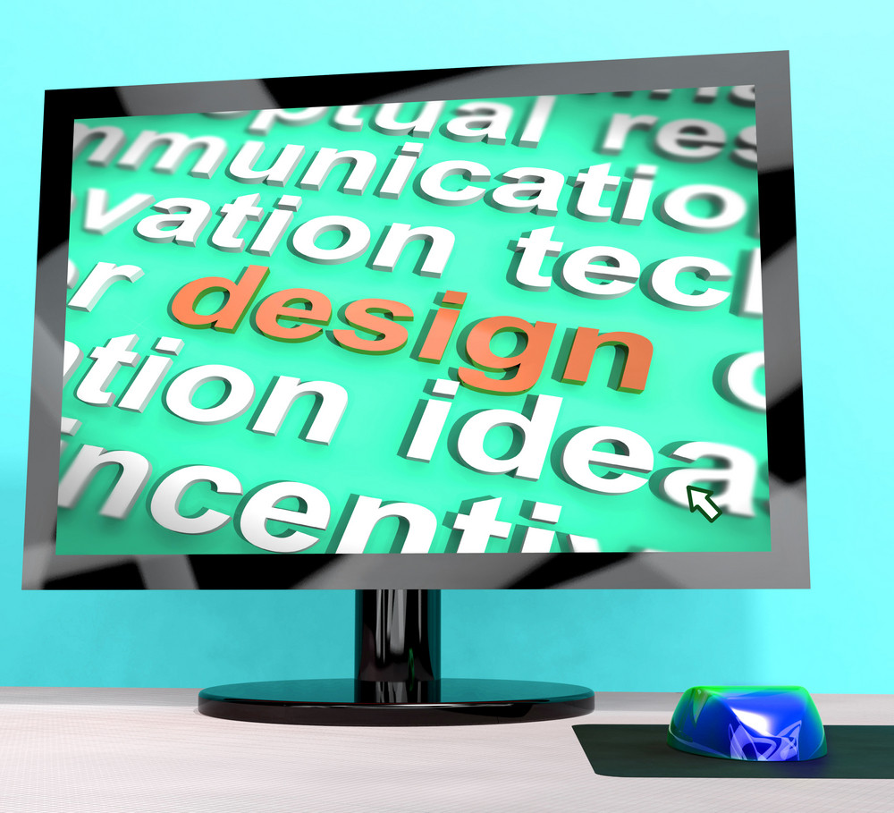 Design Word On Computer Shows Graphic Artwork