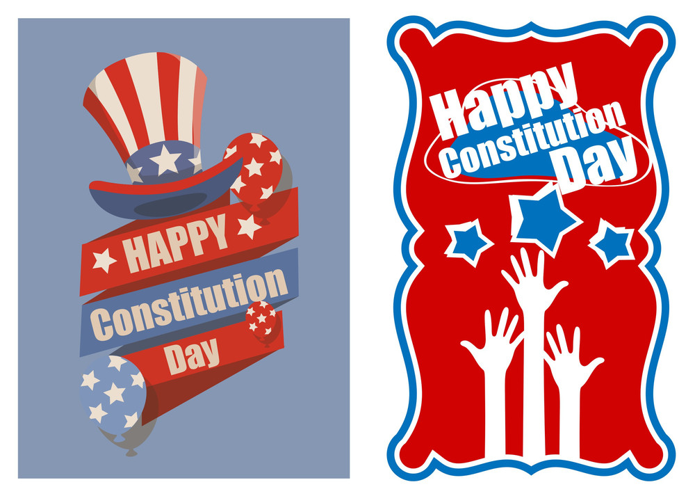 Designs And Banner For Usa  Constitution Day Vector Illustration