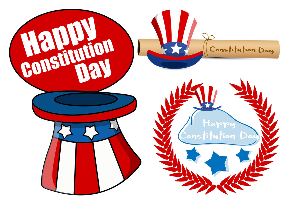 Designs Pack Constitution Day Vector Illustration