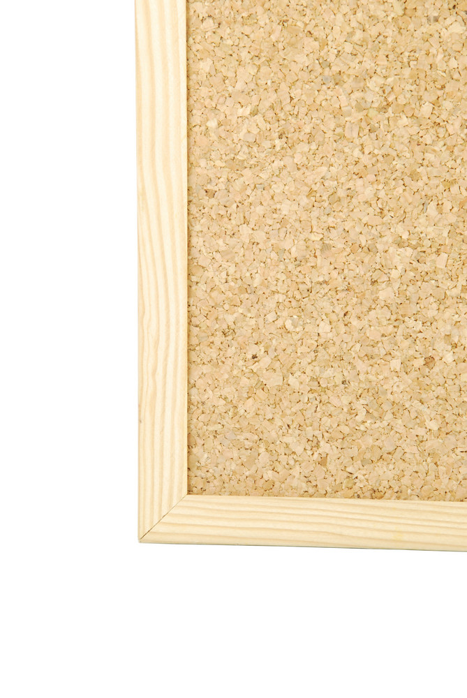 Detail Of A Cork Board On White