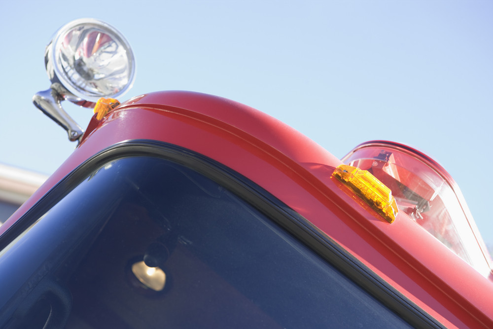 Detail of a fire engine
