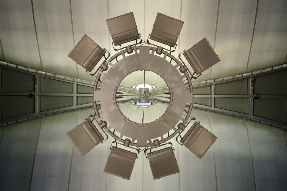 Detail of beautiful interior modern airport