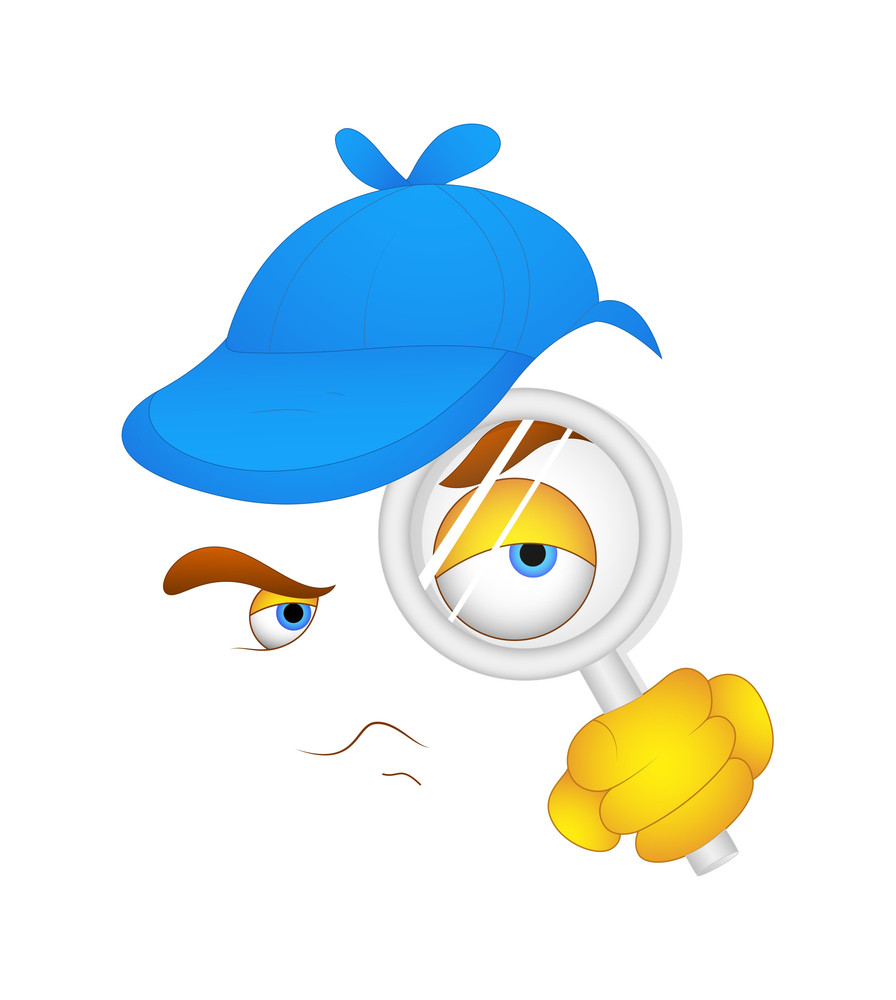 Detective Cartoon Face Expression