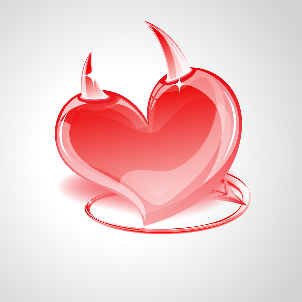 Devil Heart With Tail