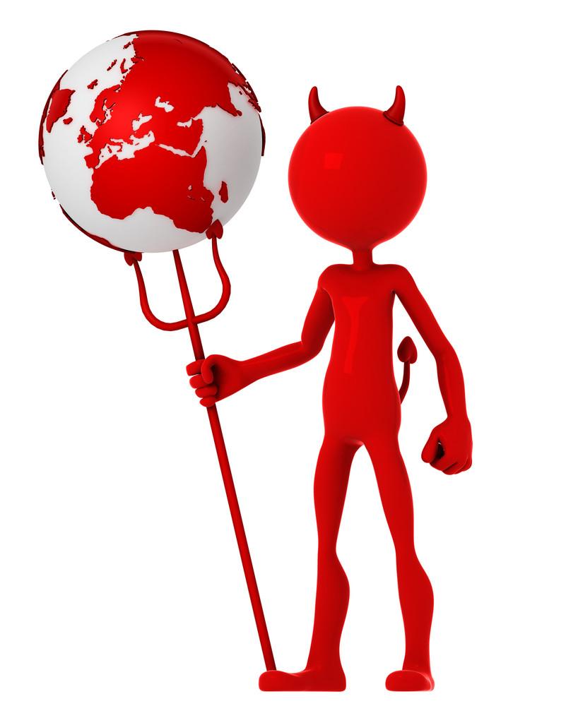 Devil Hold Earth Globe.