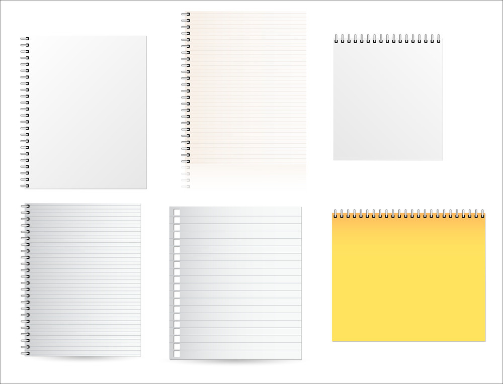 Diary Pages Vectors