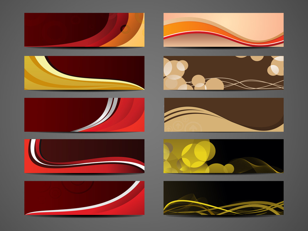 Diffrent Collection Of Abstract Headers.