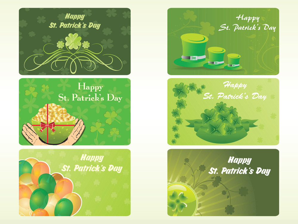 Diffrent Pattern Patrick's Day Card 17 March