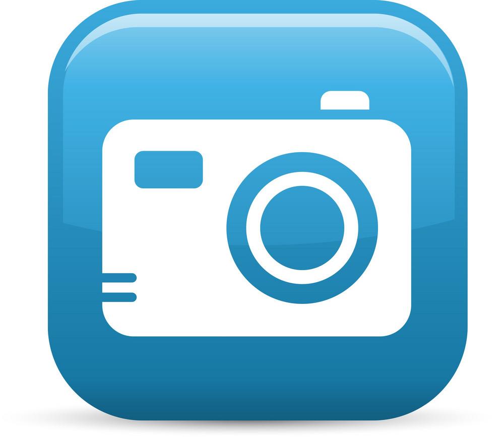 Digital Camera Elements Glossy Icon