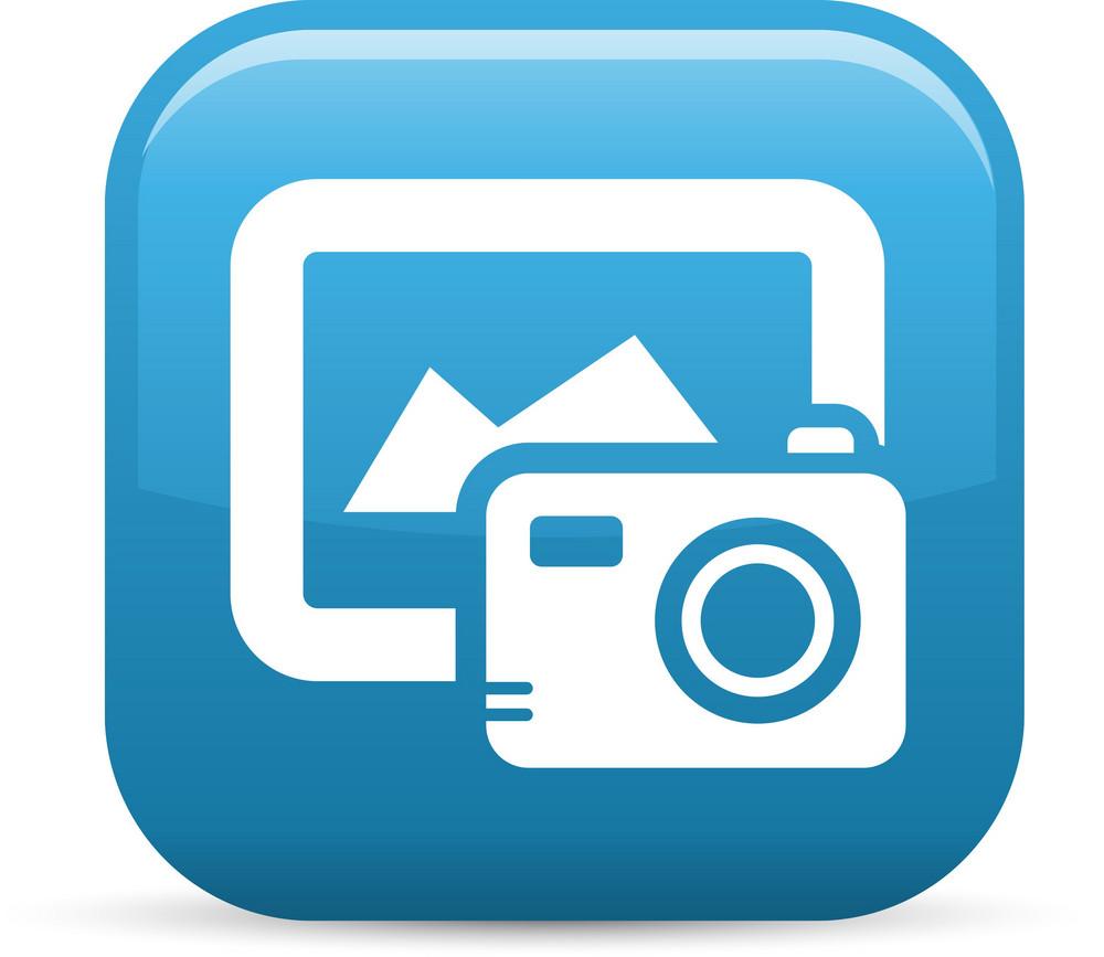Digital Image Elements Glossy Icon