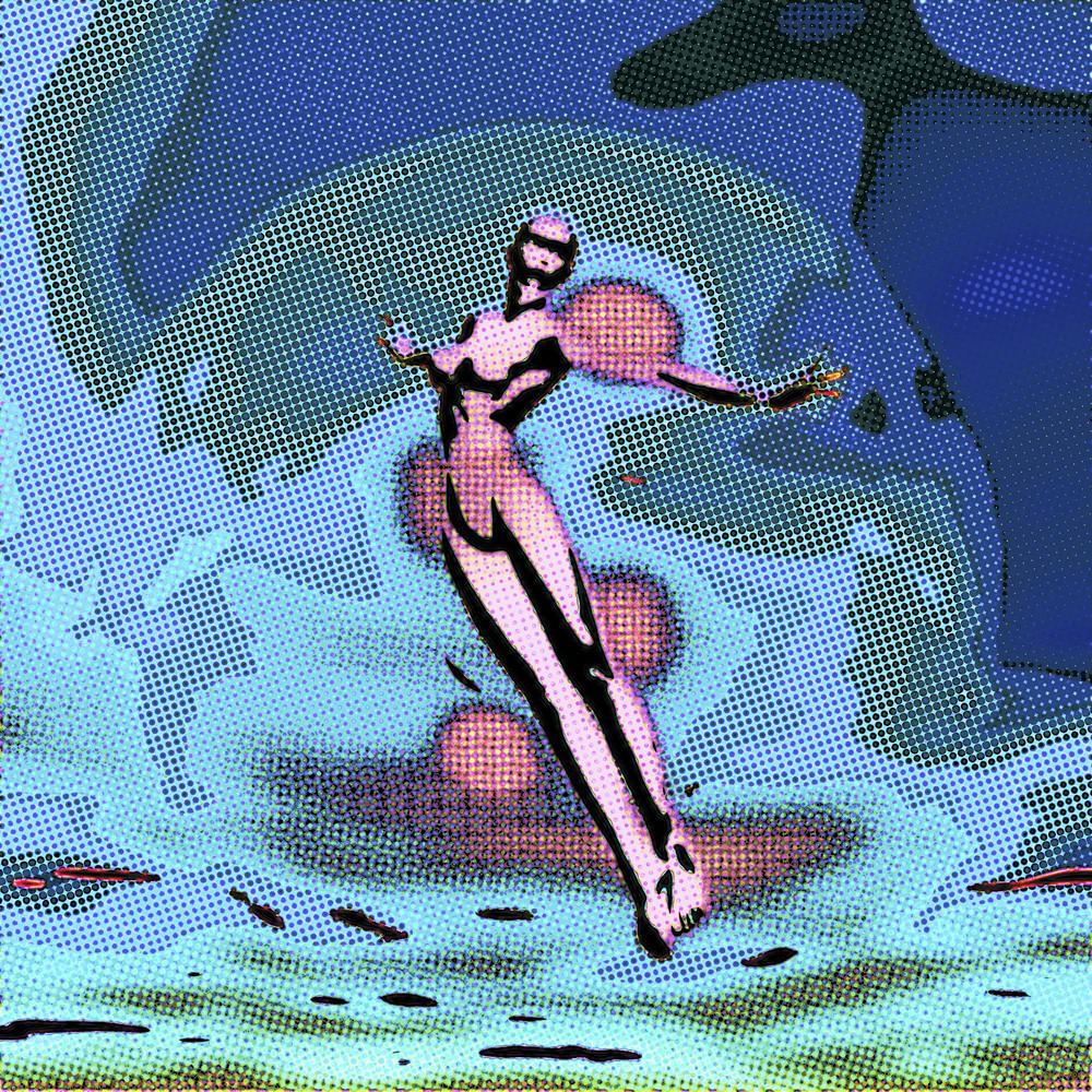 Digital Woman In A Bubble