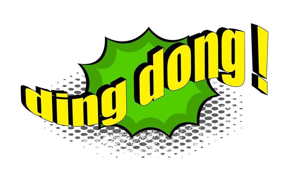 Ding Dong Retro Text Banner
