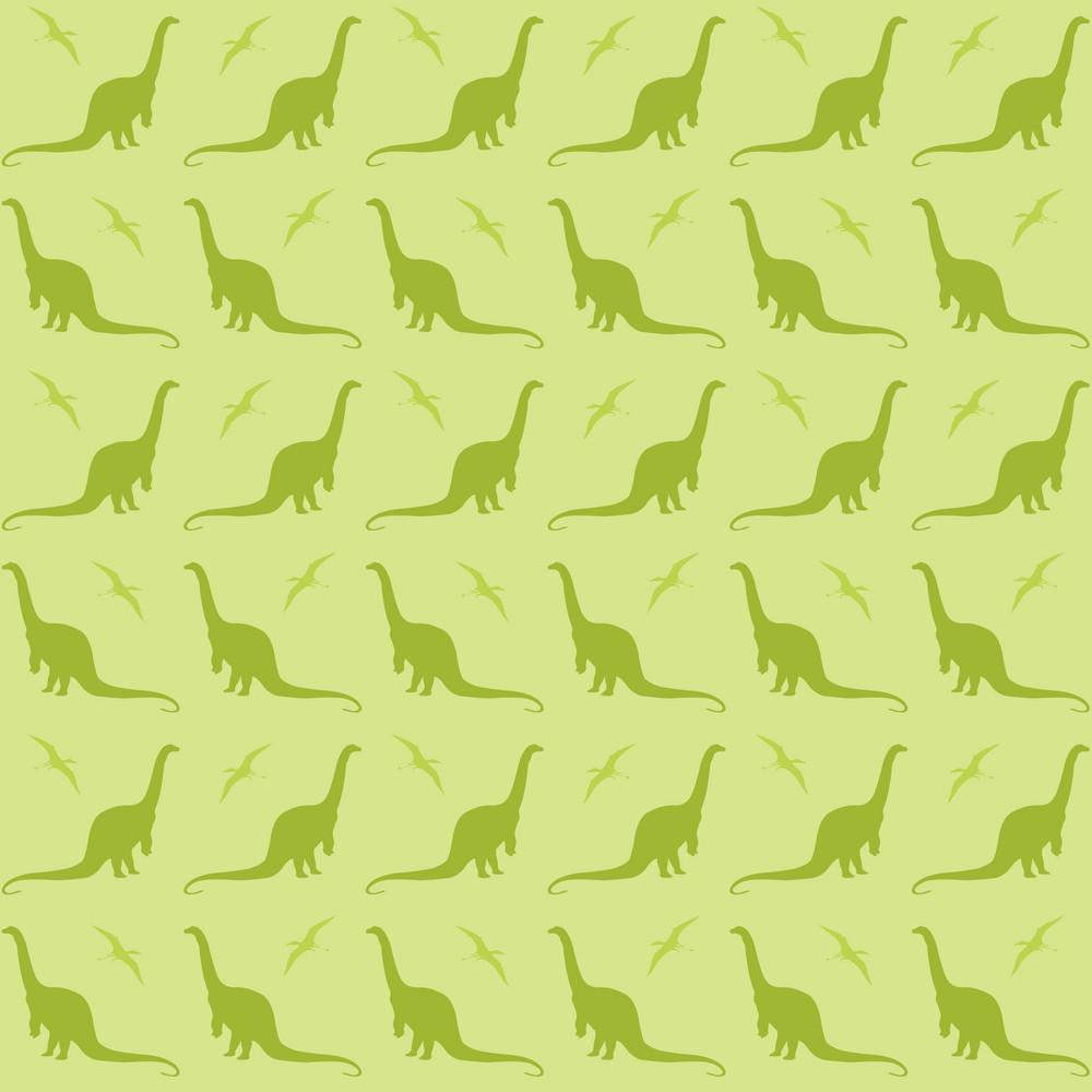 Green Dinosaur Pattern
