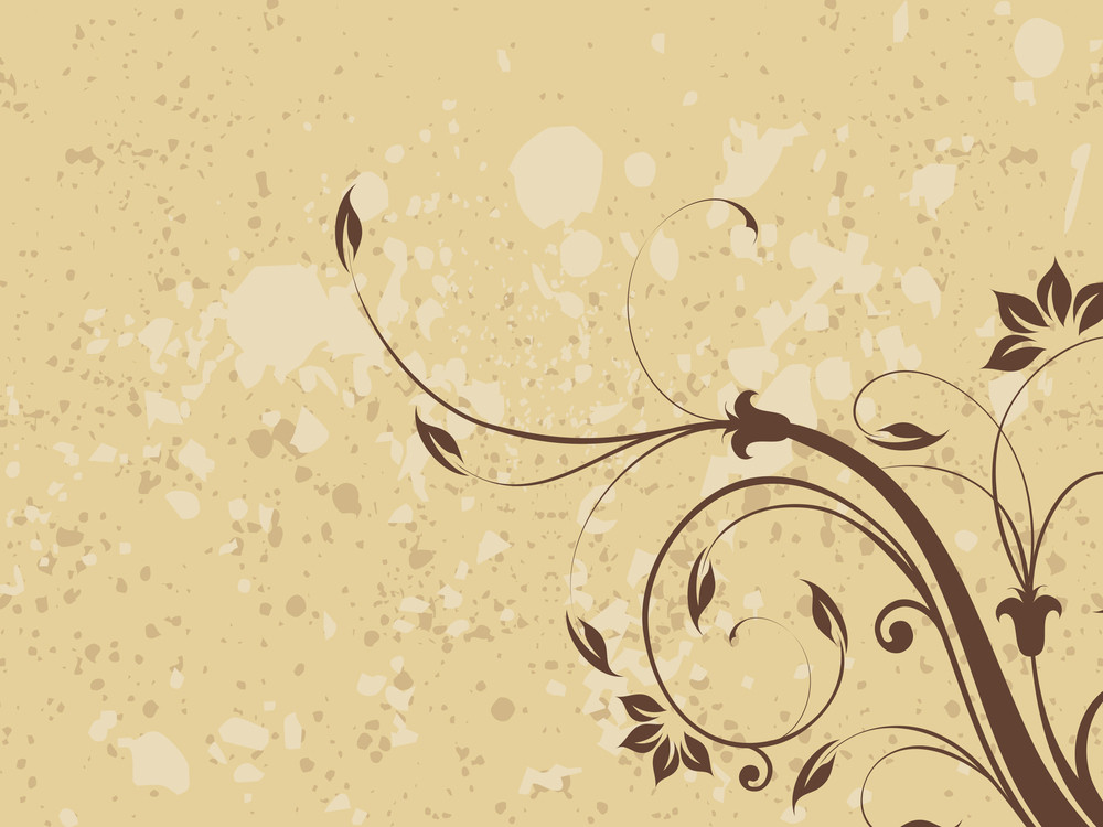 Dirty Background With Floral