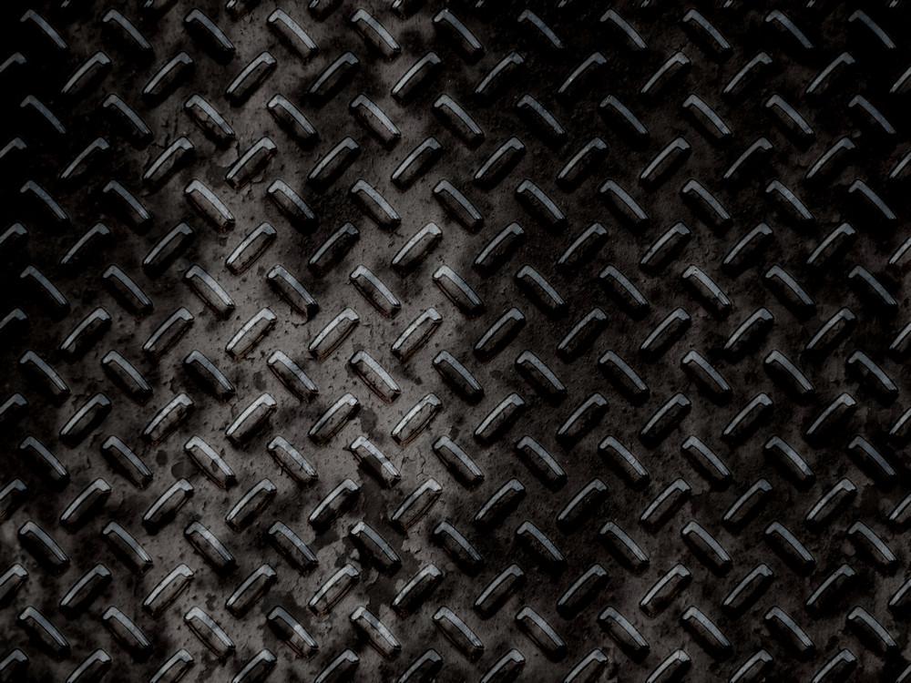 Dirty Dark Diamond Plates Background