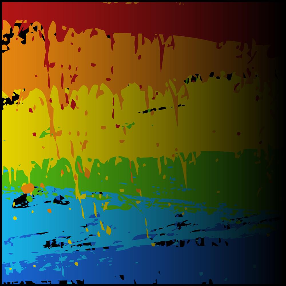 Dirty Rainbow Paint Splash Vector Background