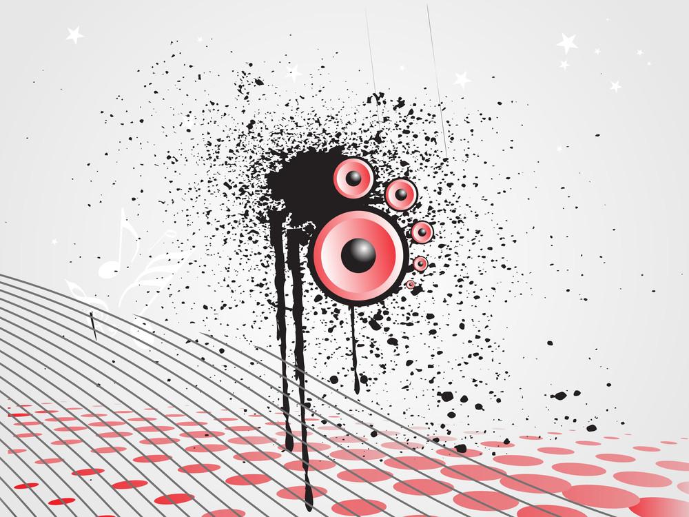 Disco Background With Grunge Element