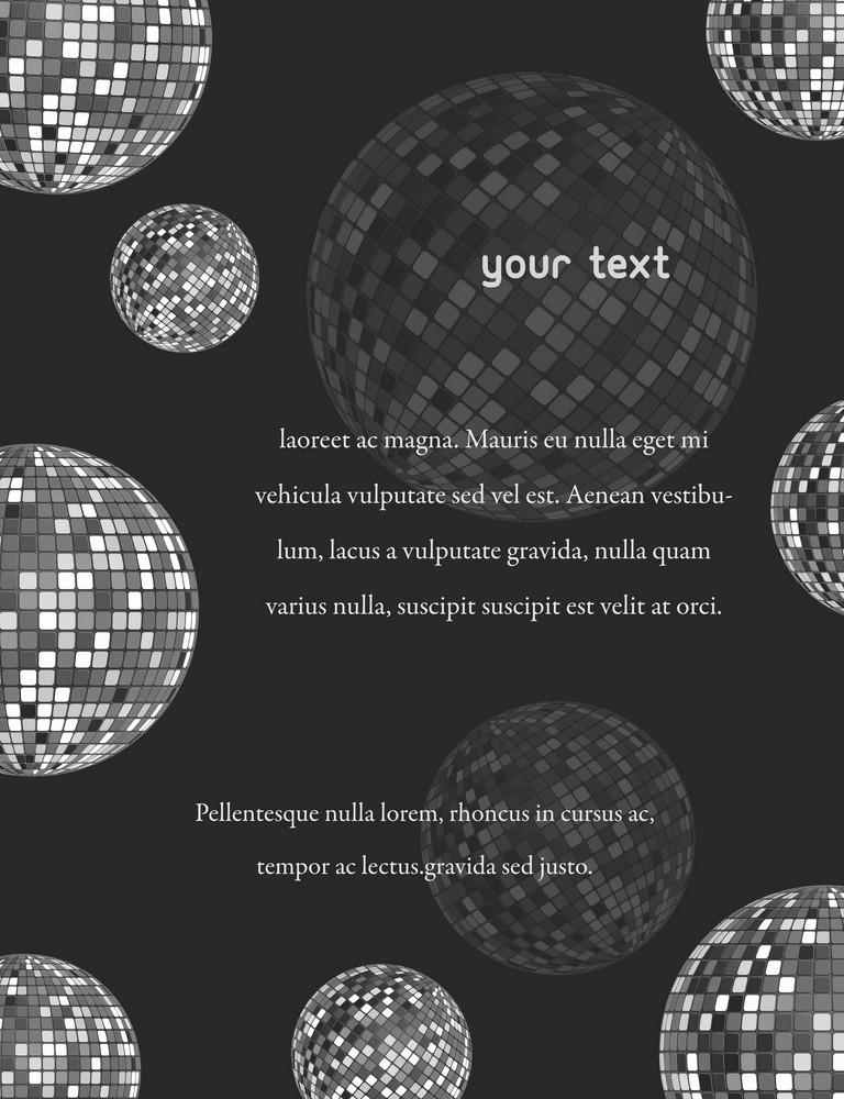 Disco Invitation Vector Illustration
