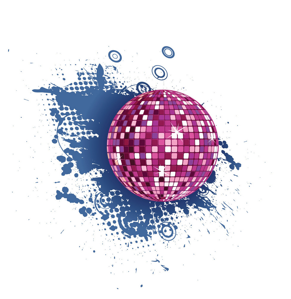 Discoball With Grunge