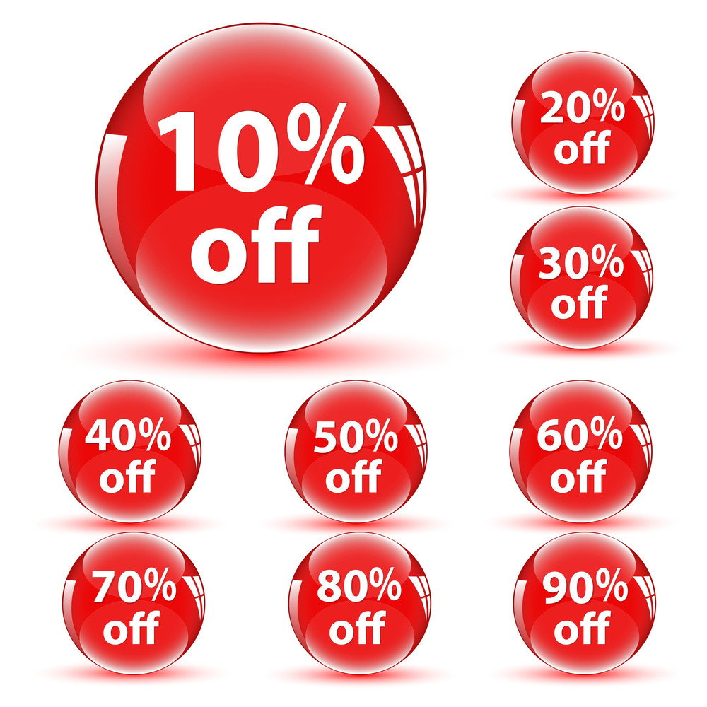 Discount Buttons Icons